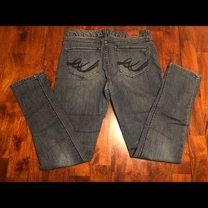 Express Jeans - Express Jean Leggings - Size 8 Medium Wash